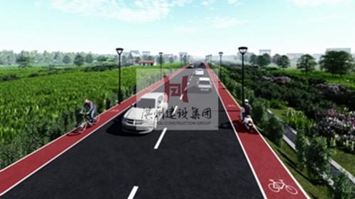 南昌县昌万公路至泾口街公路及集镇道路改造工程